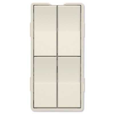 Simply Automated UPB Faceplate, Quad Rockers, Light Almond